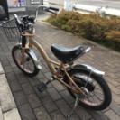 キャデラック ゴールド子供 自転車 16インチ 補助輪付