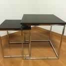 ニトリ 中古サイドテーブル ネストタイプ2個セット