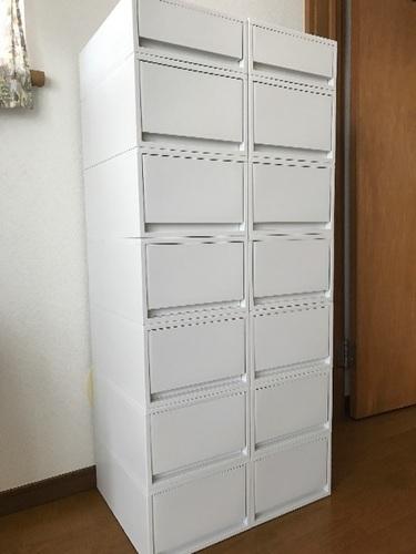 無印良品 ポリプロピレンケース・引出式・ホワイトグレー - 川崎市