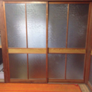 ガラス襖 戸 建具 古民家 磨りガラス