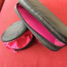 新品⭐︎モデル雅子 ガーメント ポーチ2点セット‼️黒 ピンク 小...