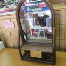 籐の置き鏡or壁掛け可能