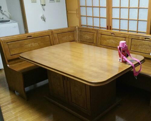 ダイニングテーブルセット6人掛けベンチ6点北欧幅190cmhida-351ナチュラル椅子