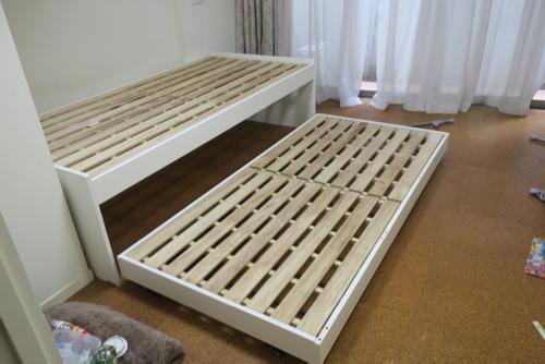 スライド式二段ベット (rikky) 駒沢大学のベッド《二段ベッド》の中古