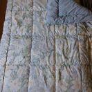 羊毛混シングルサイズ掛け布団&敷き布団(綿100%シーツ付) 未使用品