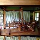 古い織り機 織機 引取り限定