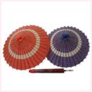 和傘 蛇の目傘2本(赤・紺)