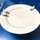 【アクセ・小物置きに】小鳥の台付き大皿