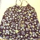 黒 花柄キャミソール