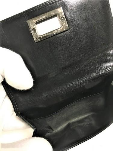 99932a130693 グッチ GUCCI サイフ 財布 皮 黒 ブラック 男性用 ヴィンテージ - 服/ファッション
