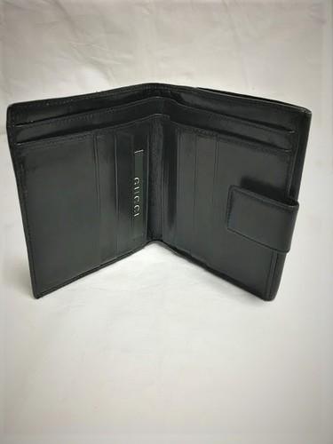 8cb5f183f6bb グッチ GUCCI サイフ 財布 皮 黒 ブラック 男性用 ヴィンテージ - 売ります・あげます