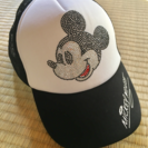 【最終価格】ミッキーのキャップ 【美品】+ 黒ボーダーキャップ