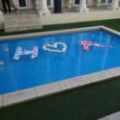 プール装飾 イニシャルオブジェ