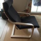 IKEAの1人がけ椅子 ポエング グレー 美品