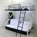 圧迫感の無いデザインロフトベッド(ソファータイプ) 東京 引き取りのみ