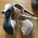 値下げ‼️大きめサイズ、ヒールの靴👠