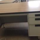 オフィス机 木目天板