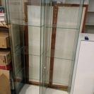 【※ りな様 売約品 (×2点まとめ)※】ガラス キャビネット 飾り棚