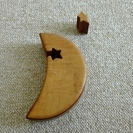 三日月型 木製 小物入れ - 大田区