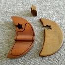 三日月型 木製 小物入れ - 生活雑貨