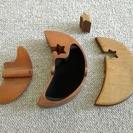 三日月型 木製 小物入れ − 東京都
