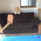 中古布製ソファー