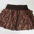 [W09] フレアースカート(ブラウン)Lサイズ