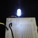 ホワイト(白色) LED & 抵抗 5セット 新品 ホビー
