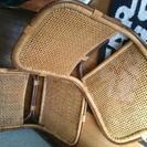 籐の座椅子2脚セット