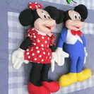 ぬいぐるみ 人形 ミッキーマウス&ミニーマウス 特大 中古