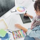 イラストレーター、フォトショップなどのソフトの使い方、デザインの...