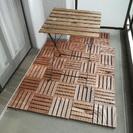 グランピングセット テーブル、デッキ テラス バルコニー