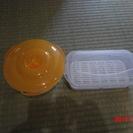 キティちゃんのお弁当箱+おにぎり型お弁当箱(子供用)+電子レンジで...