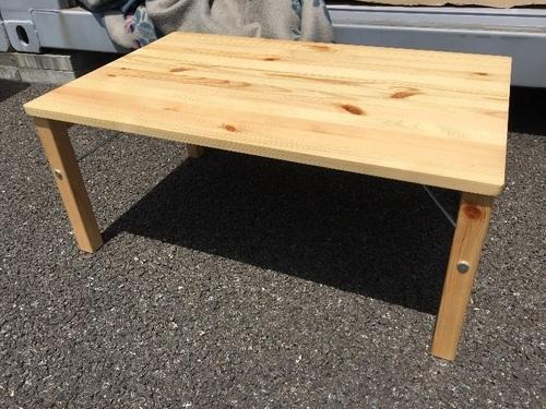 無印良品のパイン材ローテーブル・折りたたみ式 幅80×奥行50×高さ35cm MUJIIDEEイデー