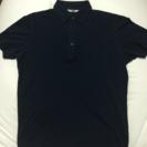 黒色 ユニクロ ポロシャツ メンズ