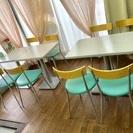 カフェ用  テーブル イス  セット品  (業務用)