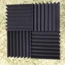 くさび状 吸音材 防音材 225×225×50mm 4枚×10セット