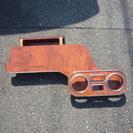bB NCP30、31 助手席側木彫テーブル