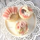 笑顔広がる☆可愛くおいしくときめく和菓子■あんフラワー&あんクラフト■カップケーキ教室 - 料理
