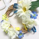 【値下げ】ミニリース ハンドメイド 造花