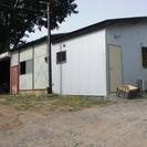 1LDKの新築住居に作業場が付いています、大工さんの作業場として、...