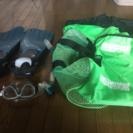 ダイビング用品とメッシュバッグ