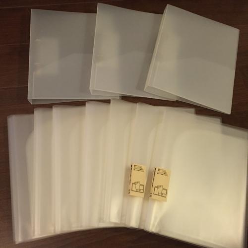 無印 リングファイル3冊 & スリムポケットホルダー7冊の画像