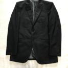 スーツ上下セット☆Y5サイズ☆黒ストライプ☆オリヒカ