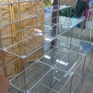 陳列用業務用 ガラス棚 縦4段奥行3段