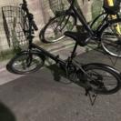 折りたたみ自転車 (カゴ付き)