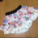 最終値下げ!【美品】花柄シフォンキュロット