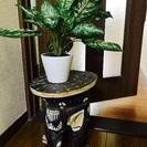 花台 飾り棚 飾り台 サイドテーブル アジアン 象 置物 観葉植...