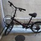 折りたたみ自転車 エンジ色