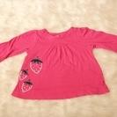80 babygap 1歳 ベビーギャップ ピンク イチゴ Tシャツ